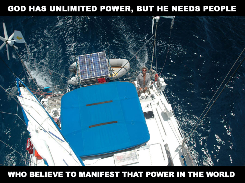 God has unlimited power, but he needs people who believe to manifest that power to the world - David J. Abbott M.D.